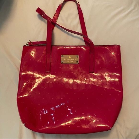 kate spade Handbags - Kate Spade Patent Leather Dot Embossed Tote